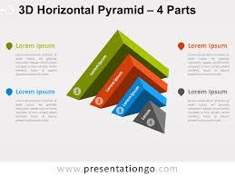 free charts and diagrams for powerpoint   presentationgo comfree d horizontal pyramid for powerpoint