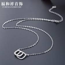 Accessories Korean student <b>Necklace women S925 pure</b> silver ...