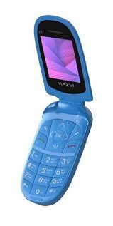 Мобильный <b>телефон MAXVI E1</b> Blue — купить в интернет ...