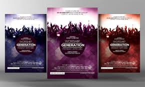 worship concert flyer template flyer templates on creative market