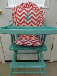 antique painted wooden high chair with monogrammed cushion love my child will have this antique high chairs wooden