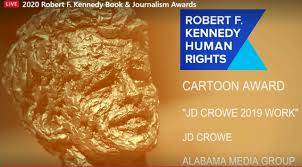 <b>J.D. Crowe</b> wins RFK Award for editorial cartoons - al.com