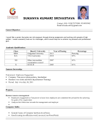 format resumes cover letter sample resume format for fresh graduates one page sample singleformat of simple formats for resumes