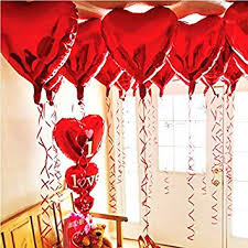Amazon.com: BinaryABC Foil Balloons,Love Heart Shape Helium ...