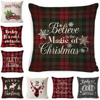 <b>Fashion</b> Christmas <b>European</b> Pillowcase Linen <b>Super Soft</b> Cushion ...