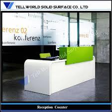 modern white office reception desk solid surface led office reception counter for sale modern office bow front reception counter office reception desk