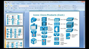 how to prepare a basic network diagram using cisco icons  amp  ms    how to prepare a basic network diagram using cisco icons  amp  ms power point   youtube