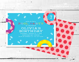 night pool party invitation images a polka dot pool party