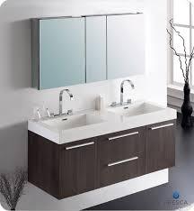 picture of fresca opulento gray oak modern double sink bathroom vanity w medicine cabinet bathroom basin furniture