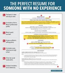 resume for job seeker no experience business insider the layout is clean and easy to