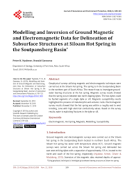 (PDF) Modelling and Inversion of Ground <b>Magnetic</b> and ...
