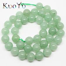 <b>wholesale Natural Green</b> Aventurine Jades Round Loose <b>Stone</b> ...