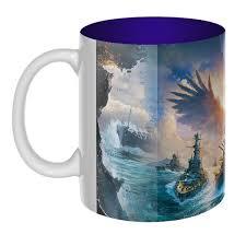 Цветная внутри 3D-<b>кружка World of</b> Warships - купить онлайн в ...