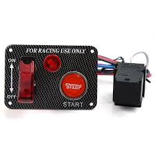 <b>12V Ignition Switch Panel</b> Engine Start Push Button RED LED ...
