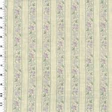 Purple <b>Floral Stripe</b> Print Vintage Linen Decorating <b>Fabric</b> ...