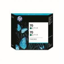 <b>Hewlett Packard HP 70 Green</b> Ink Cartridge 130ml Twin Pack ...