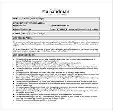11+ Office Manager Job Description Templates - Free Sample ... Hotel Office Manager Job Description Example PDF Free Download