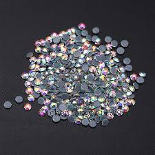 Crystal <b>AB</b> Iron On <b>Hotfix</b> Rhinestones Hot Fix <b>Flatback White</b> Clear ...