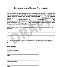 lease termination sample rental termination letter to tenant