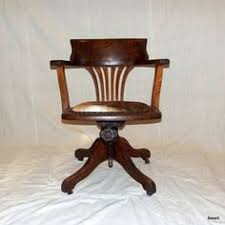 antique upcycled wooden bankers office chair 21700 via etsy antique wooden desk chair