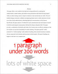 Format the Abstract Page in APA Style   th Edition Sample Abstract Page in APA Style