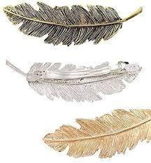 AENMIL <b>Set</b> of 3 Korean Leaves <b>Feather</b> Hairpin Retro Spring ...