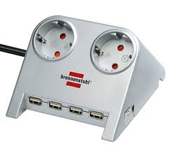 <b>Brennenstuhl Desktop</b>-<b>Power</b>-Plus 2 розетки + 4 USB, 1.8 м