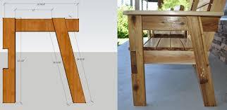 side view cedar bench plans