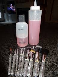 mac makeup brush cleaner knock off 1 cup distilled water 1 4 cup of