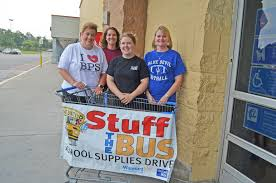 stuff the bus gathers supplies the people sentinel