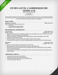 cashier resume template entry level sample resume for cashier position