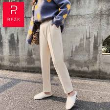 <b>Rfzk</b> 2020 Autumn Winter New Pants <b>High Waist</b> Women's Pencil ...