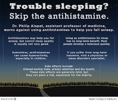 avoid using antihistamines as sleep aids