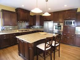 Kitchen Islands With Granite Countertops Black Granite Countertops With Brown Cabinets