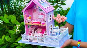 <b>DIY</b> Girly Miniature <b>Dollhouse</b> *<b>NEW</b>* - YouTube