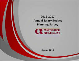 executive compensation consultants 2016 2017 annual salary budget planning survey