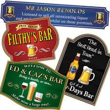 bar pub sign