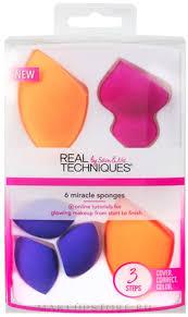 <b>Набор спонжей</b> для макияжа - <b>Real Techniques</b> Miracle 6 ...