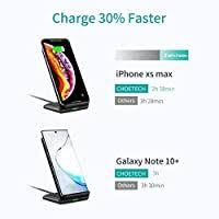 CHOETECH <b>Wireless</b> Charger, <b>Qi</b>-Certified <b>10W</b> Max <b>Fast Wireless</b> ...