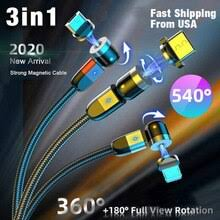 3 In 1 Magnetic Data Cable Fast Charging <b>USB</b> Cord For Iphone ...