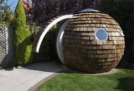 people pod whimsical home office puts work in your yard backyard home office pod