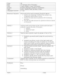 lesson plan literature form teachers