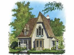Gothic Revival House Plans at Dream Home Source   Victorian Style    DHSW   Victorian House Plans