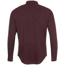 <b>Рубашка мужская BECKER MEN</b>, бордовая с белым, размер XL ...