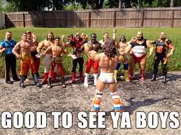 The Ultimate Warrior Reunites With All Of... - WrestlingMemes via Relatably.com