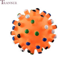 pet dog puppy dumbbell football ball shape biter resistant play chew squeaky toy training barbell barbed toys hot sale hot sale