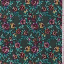Hunter Green Multi <b>Floral</b> Rayon Crepon | Bright Star in 2019 ...