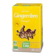African <b>Organic Ginger herbal tea</b> - Racines
