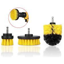 <b>Drillpro</b> 3Pcs <b>2</b>/<b>3.5</b>/<b>4 Inch</b> Yellow Electric <b>Drill</b> Brush Tile Grout ...