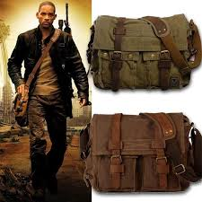 Canvas leather men messenger Bags - bellabydesignllc